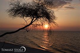 Plaża w Rewalu - Zachód Słońca nad morzem